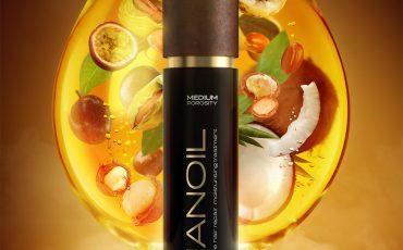 öljy täynnä ainesosia Nanoil